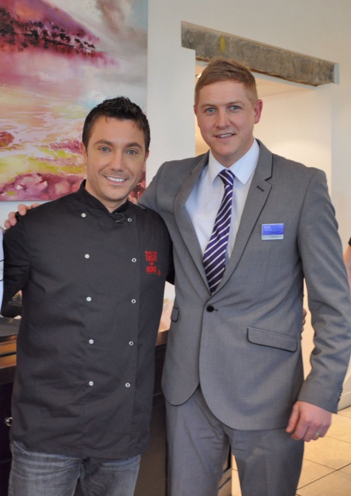 Gino D'acampo and Mark Needham at Waterhead