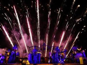 Les Commandos Percu combines percussion and pyrotechnics to wow audiences