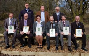 English Lakes hotel managers Back row Cllr Ben Berry, Simon Berry MD, Douglas Dale Operations Director Front row GMs: Mark Needham Waterhead; Nevil Jeffery – Low Wood Bay; Tracy Smith (Deputy GM) Storrs Hall; Andy Lemm – The Wild Boar; Matt Stanaway – The Midland and far right Tim Bell – Lancaster House