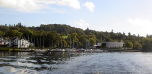 An artist's impression of Low Wood Bay and the new Convention Centre
