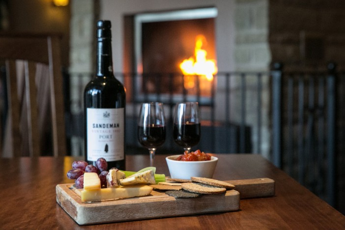 Lancashire Cheese Board with Sandemans Port in the Sandemans Bar