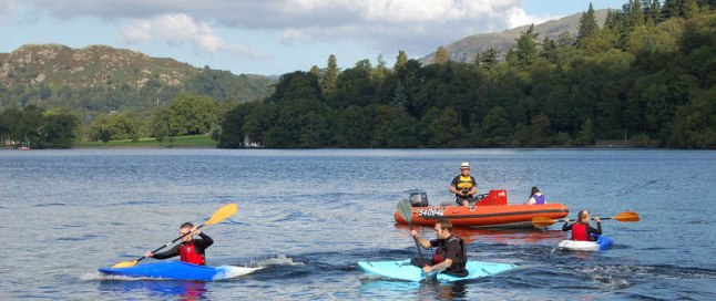 Kayaking on Lake Windermere, the Lake District