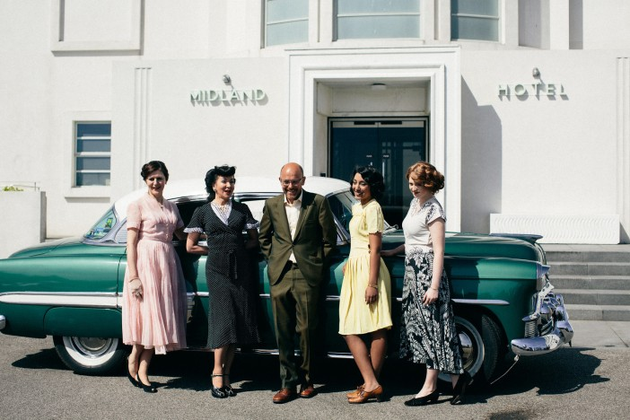 Outside The Midland for the launch of Vintage by the sea