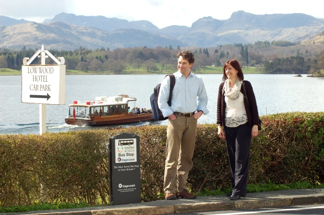 Britains most scenic bus stop - Low Wood Bay