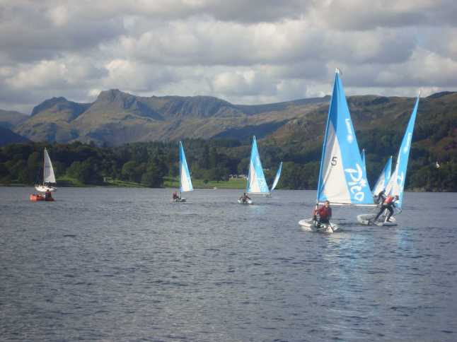 The OnBoard crew enjoying the freedom of Lake Windermere