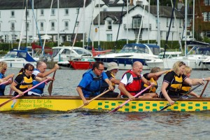 Paddlers for Life with LWB in background
