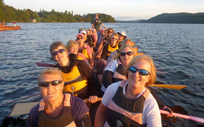 Cancer survivors - all in the same boat - literally!
