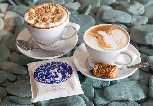 Waterhead roasted coffee served with Gransmere Gingerbread