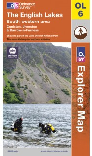 Ordnance Survey Map of The Lake District: South-western area
