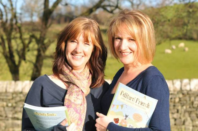 The dream becomes a reality. Amy and Claire with their newly published book