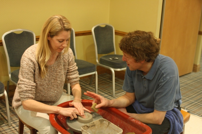 Generation Game Potters Wheel with some expert guidance