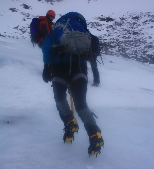 Crampons are great for grip on ice