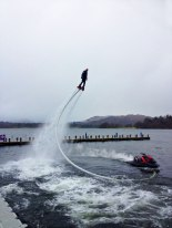 Fly-boarding in the Marina
