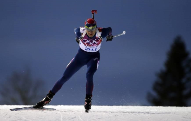 Bjoerndalen competing in Sochi