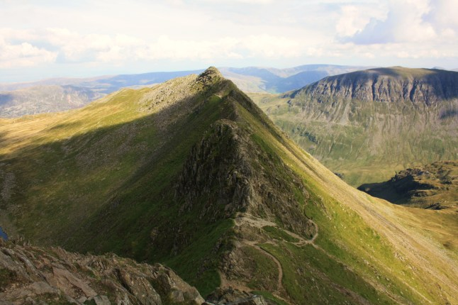 Striding Edge from the summit of Helvellyn