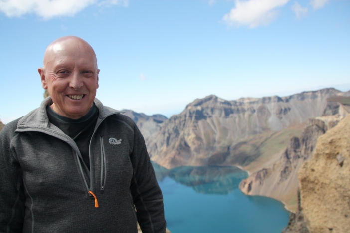 Bob during his visit to Changbai Mountain in northern China