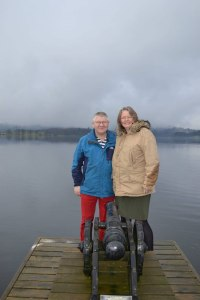 Lars and Theresia on the iconic Low Wood Bay Jetty