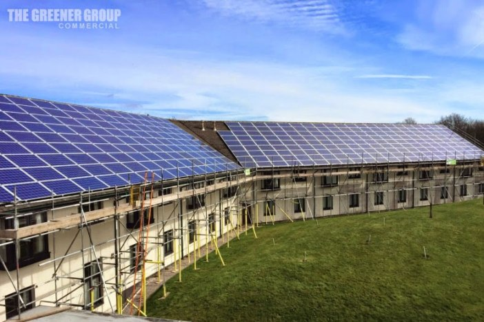 Lancaster House's New Solar Panels Installed by The Greener Group