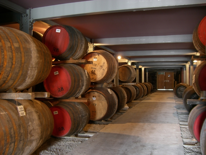 Whiskey barrels at the Macallan Distillery. Photo: Christian