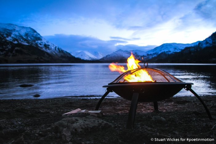 Winter Beach Barbeque at Ullswater Lake District