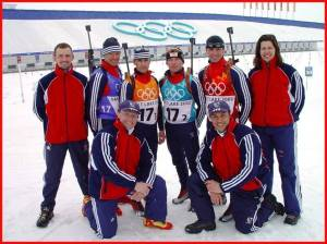 Ian with Olympic team