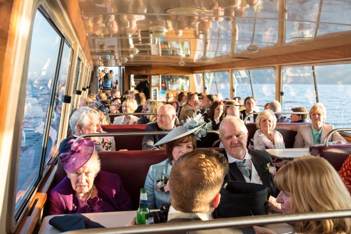 Guests enjoying a cruise on Windermere