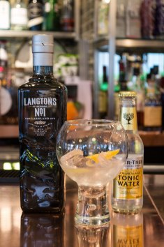 Langtons at Waterhead, served with Fever tree tonic and a slice of lemon