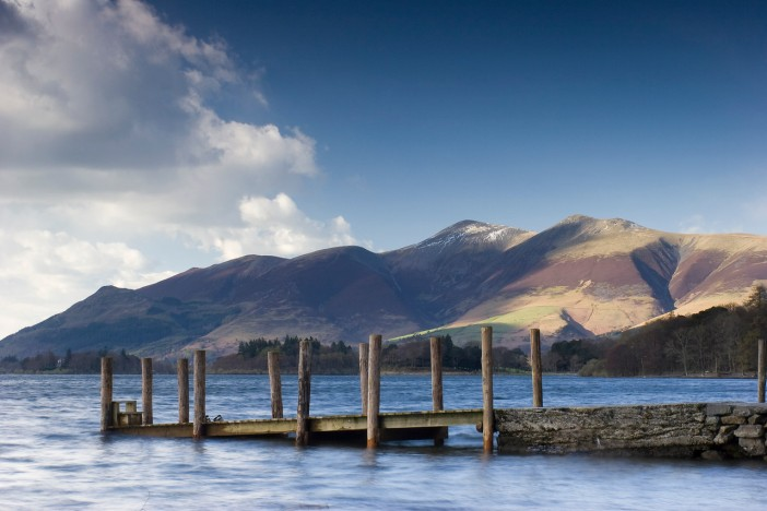 Skiddaw from Derwentwater in the Lake District