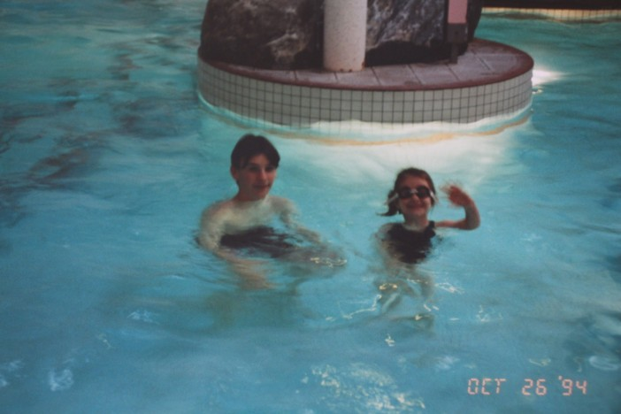 Claire in the Low Wood Club Pool as a child