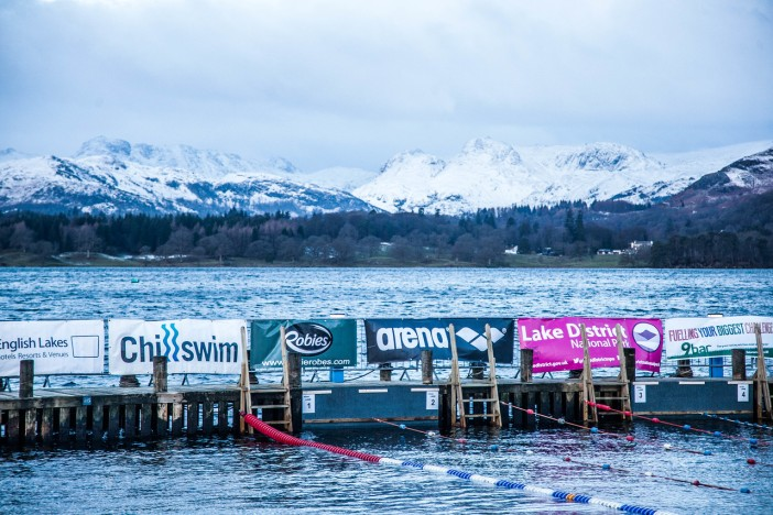 Chilly Lake Windermere in Winter, the venue for the Big Chillswim