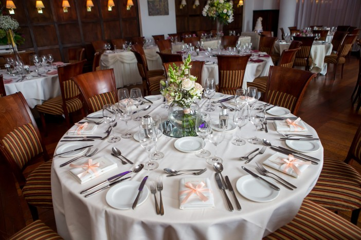 Low Wood Bay Windermere Restaurant setup for a celebration / Chris Freeer Photography