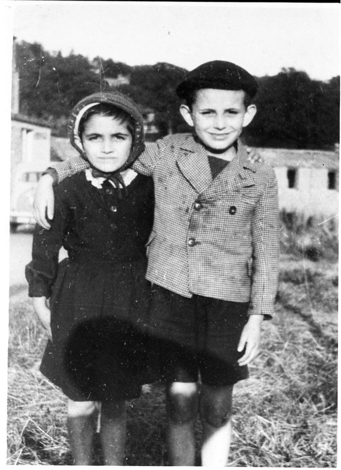Two of the young Holocaust survivors