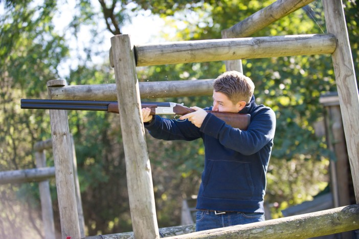 Popular with our corporate clients - Clay Pigeon Shooting at The Wild Boar