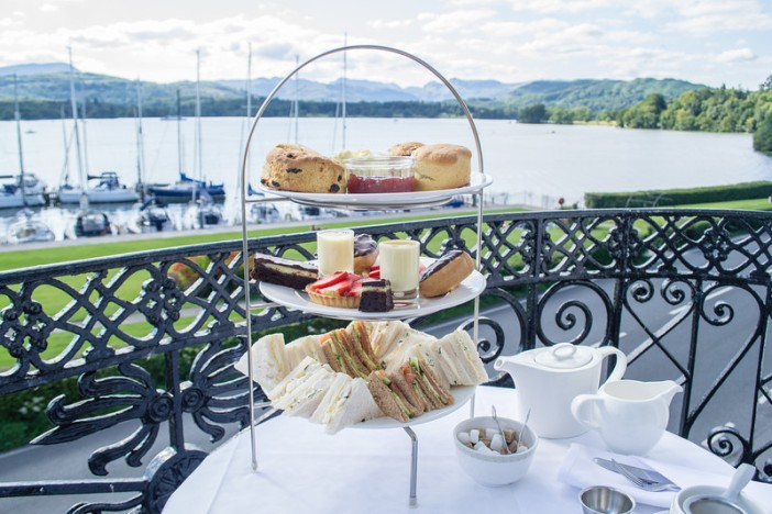 Afternoon Tea at Low Wood Bay - a great way to enjoy Windermere