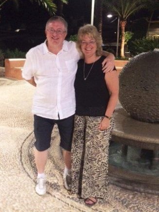 Duncan and Sarah on a recent holiday