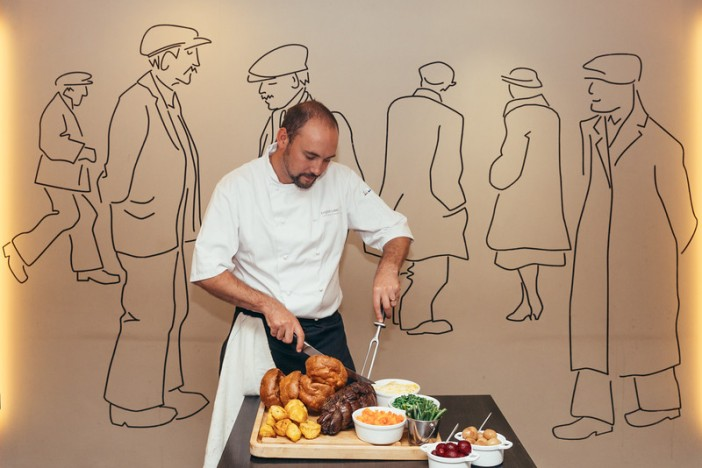 Head Chef, Damien, serves up a spectacular Sunday lunch, with Yorkshires